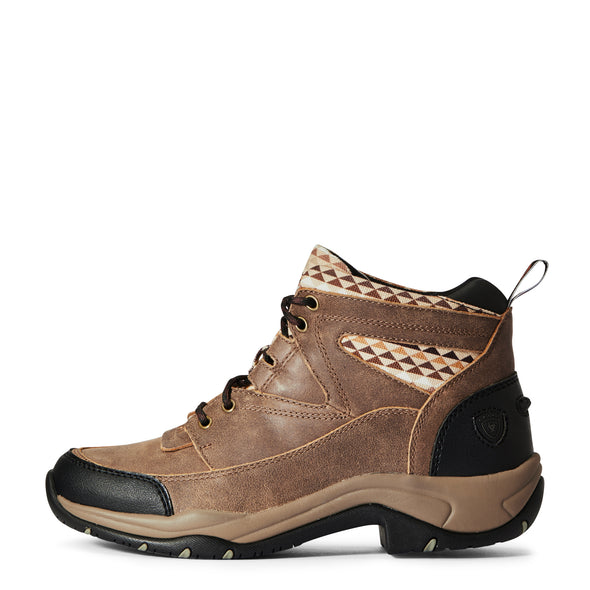 Women's Terrain Boots in Brown Bomber/Aztec 10033925 Ariat side