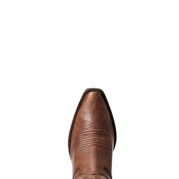 Ariat Women's Goldie Naturally Distressed Cognac 10033886 toe