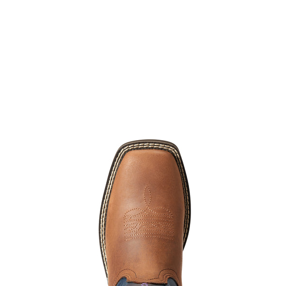 Ariat Women's Azalea Light Toffee / Navy 10033916 toe