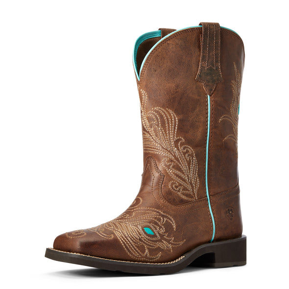 Women's Bright Eyes II Western Boots in Weathered Brown 10033983 Ariat