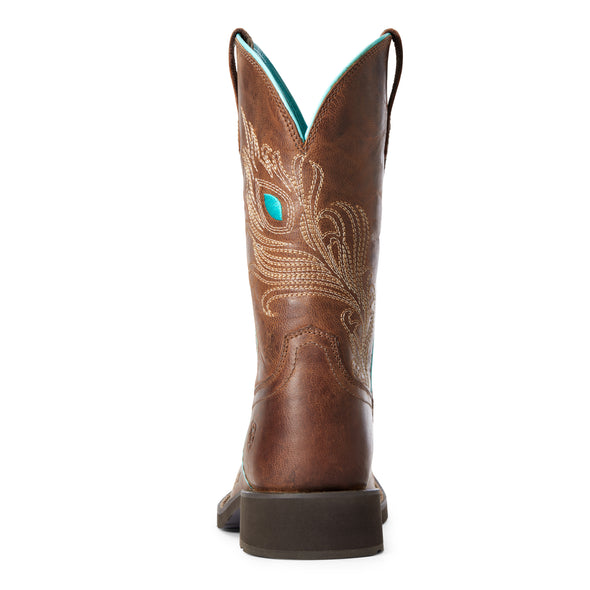 Women's Bright Eyes II Western Boots in Weathered Brown 10033983 Ariat heel
