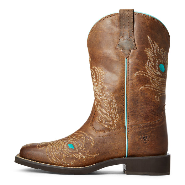 Women's Bright Eyes II Western Boots in Weathered Brown 10033983 Ariat side