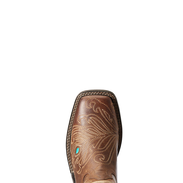 Women's Bright Eyes II Western Boots in Weathered Brown 10033983 Ariat toe