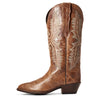 Women's Heritage Elastic Calf Western Boots in Dark Tan 10034154 Ariat side