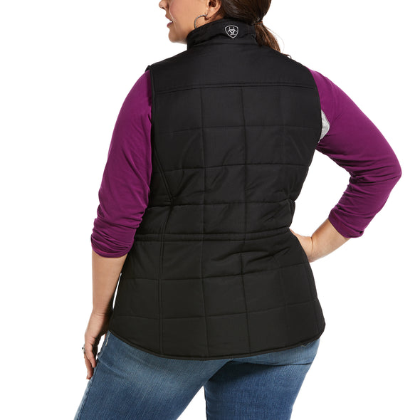 Women's REAL Crius Vest 10032984 Black, X-Small by Ariat extended Back
