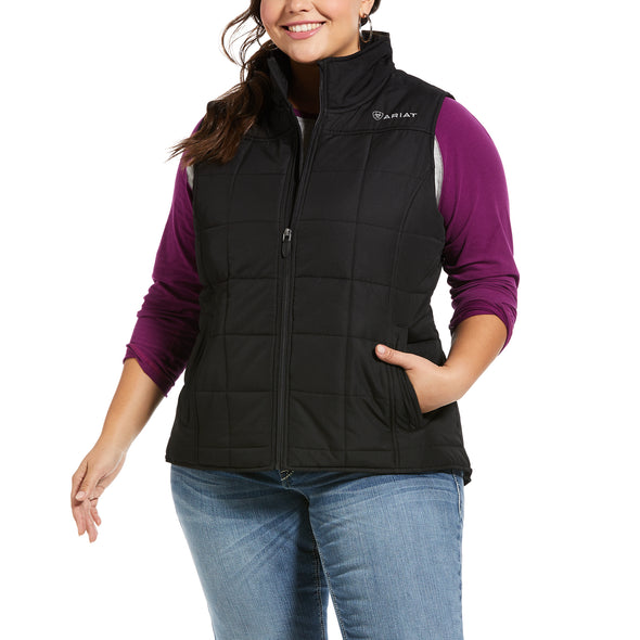 Women's REAL Crius Vest 10032984 Black, X-Small by Ariat Extended