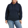 Women's REAL Arm Logo Hoodie Fleece in Navy Eclipse 10033136 Ariat