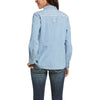 Women's REAL Fierce Shirt in Indigo, 10033138 Ariat back