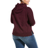 Women's REAL Vintage Logo Sweatshirt Fleece in Winetasting 10033534 Ariat extended back