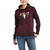 Women's REAL Vintage Logo Sweatshirt Fleece in Winetasting 10033534 Ariat
