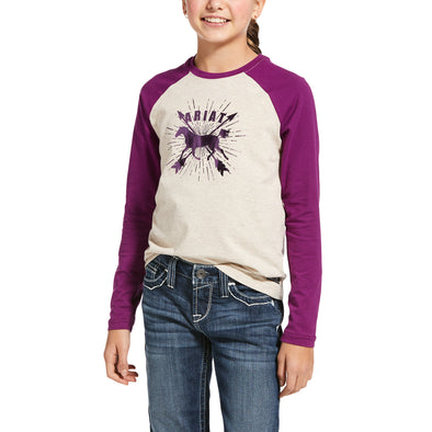 Kid's Dash Logo T-Shirt in Oatmeal 10032747 Ariat