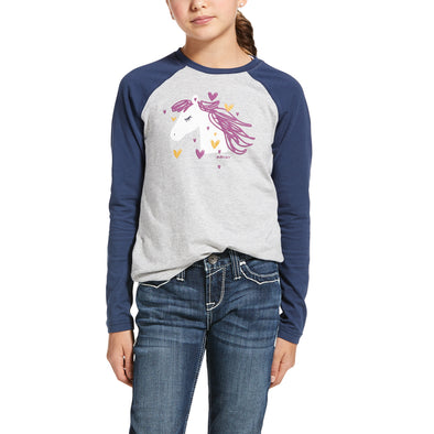 Kid's My Love T-Shirt in Heather Grey 10032749 Ariat