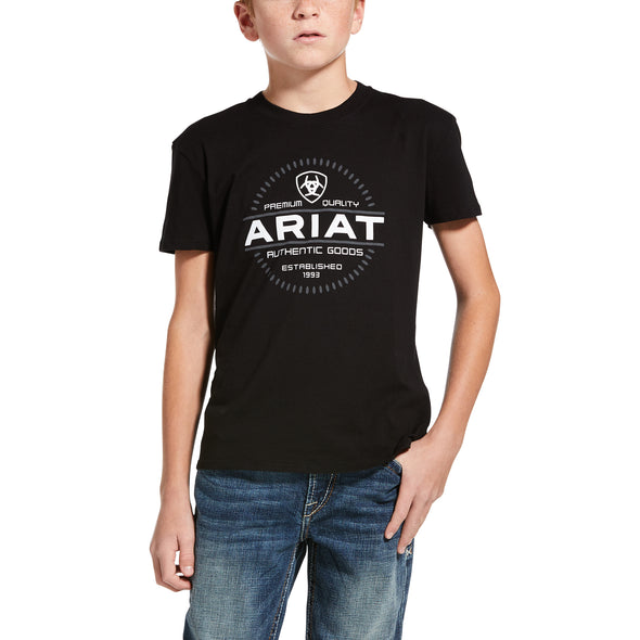 Kid's Incremental T-Shirt in Black 10033399 Ariat