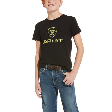 Kid's Ariat Woodlands T-Shirt in Black 10034356