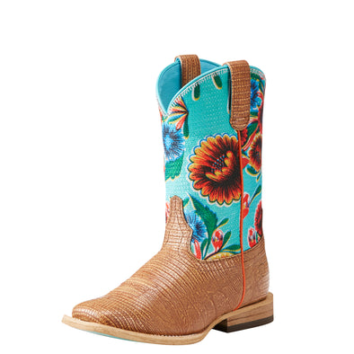 Kid's Gringa Western Boots in Natural Lizard Print 10023070 Ariat