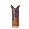 Kid's Vaquera Western Boots in Weathered Brown 10023071 Ariat heel