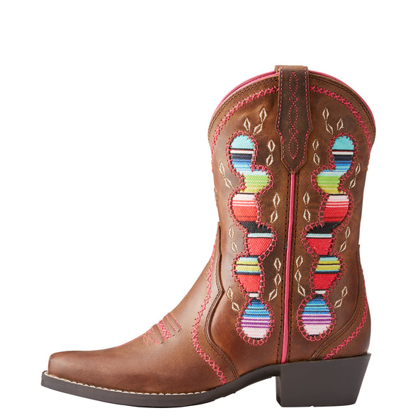 Kid's Desert Diva Western Boots in Distressed Brown 10023077 Ariat side