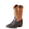 Kid's Heritage Roughstock Western Boots in Dark Java 10023093 Ariat