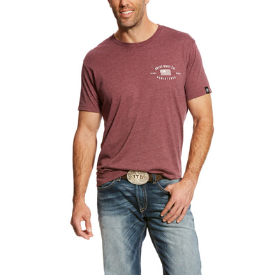 Ariat Men's US Registered T-Shirt Burgandy Heather 10024554
