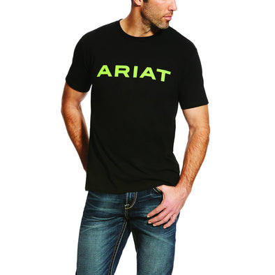 Ariat Men's Branded T-Shirt Black / Lime 10025206