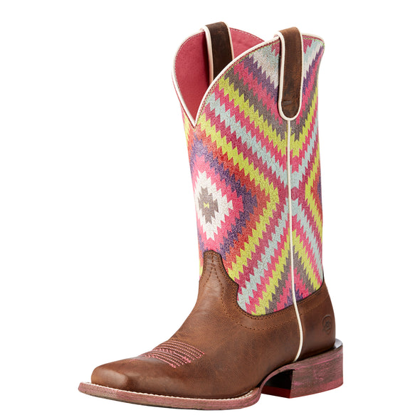 Ariat Women's Circuit Savanna Weathered Brown / Bright Aztec Print 10023139