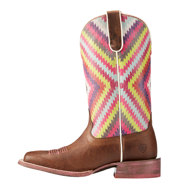 Ariat Women's Circuit Savanna Weathered Brown / Bright Aztec Print 10023139 side