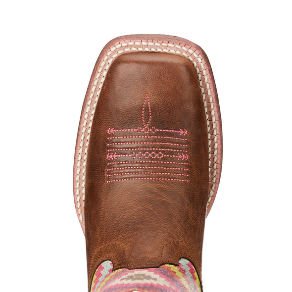 Ariat Women's Circuit Savanna Weathered Brown / Bright Aztec Print 10023139 toe