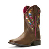 Ariat Kid's Quickdraw VentTEK™ Distressed Brown 10027306