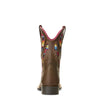 Ariat Kid's Quickdraw VentTEK™ Distressed Brown heel