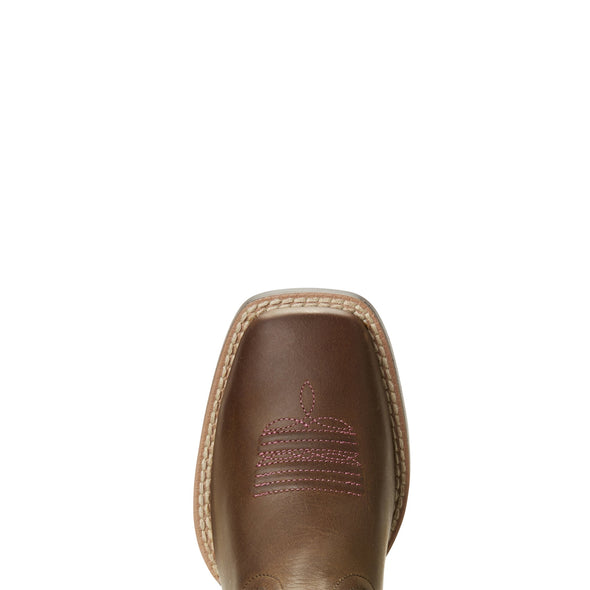 Ariat Kid's Quickdraw VentTEK™ Distressed Brown toe