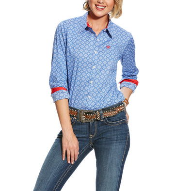 Ariat Women's Kirby Stretch Shirt Amparo Blue 10025916