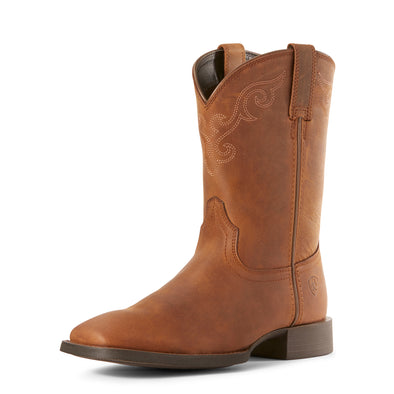 Ariat Women's Roper Wide Square Toe Distressed Brown 10027383