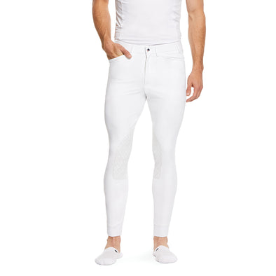 Men's Tri Factor Grip Knee Patch Breech Riding Pant in White 10030545 Ariat