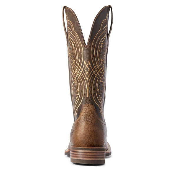 Men's Double Kicker Western Boots in Earth Leather, 10031442 Ariat heel