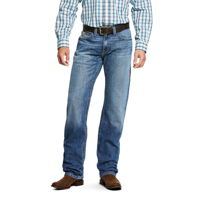 Men's M2 Relaxed Lassen Stackable Boot Cut Jeans in Blaze, 10030256 Ariat