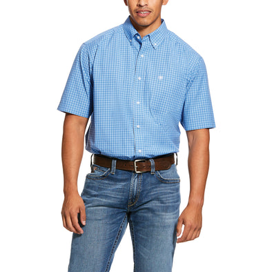 Men's Pro Series Glendale Classic Fit Shirt in Polar Blue 10030687 Ariat