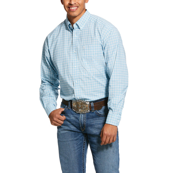 Men's Pro Series Lee Stretch Classic Fit Shirt in September Sky 10030730 Ariat