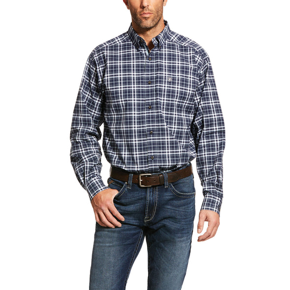 Men's Pro Series Newberry Stretch Classic Fit Shirt in City Marine 10030739 Ariat
