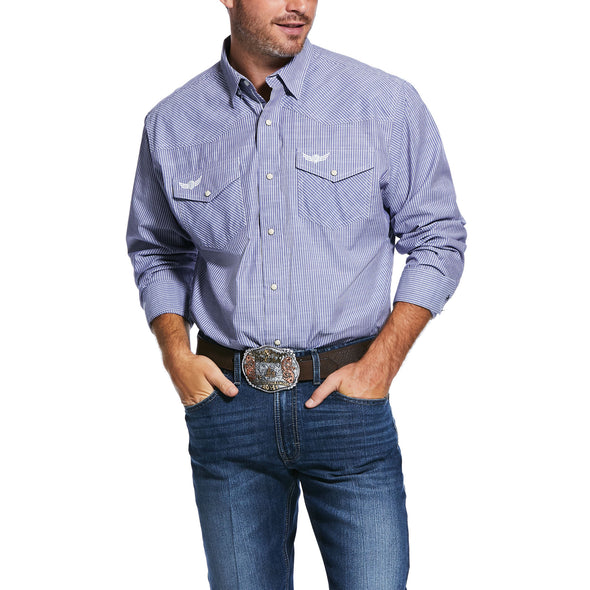 Men's Relentless Positive Stretch Classic Fit Shirt in Blue Steel 10031894 Ariat alt