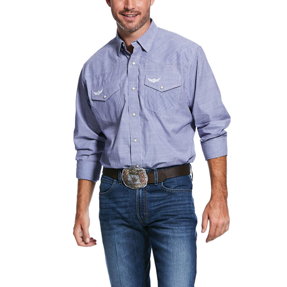 Men's Relentless Positive Stretch Classic Fit Shirt in Blue Steel 10031894 Ariat