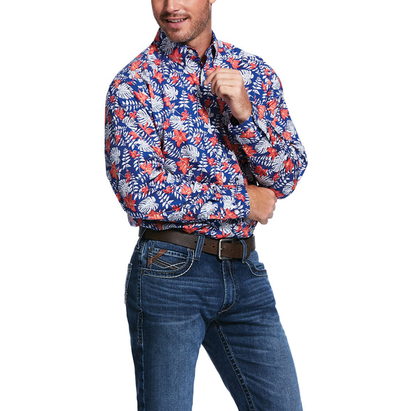 Men's Garstow Print Classic Fit Shirt 10032082 Ariat
