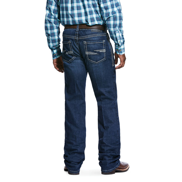 Men's M4 Low Rise Stretch Huron Boot Cut Jeans in Denali Cotton, 10032085 Ariat back