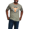 Ariat Men's International 93 T-Shirt Olive Heather 10032524