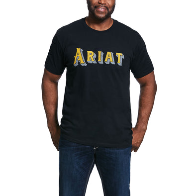 Ariat Men's Drop Shadow T-Shirt Black 10032527