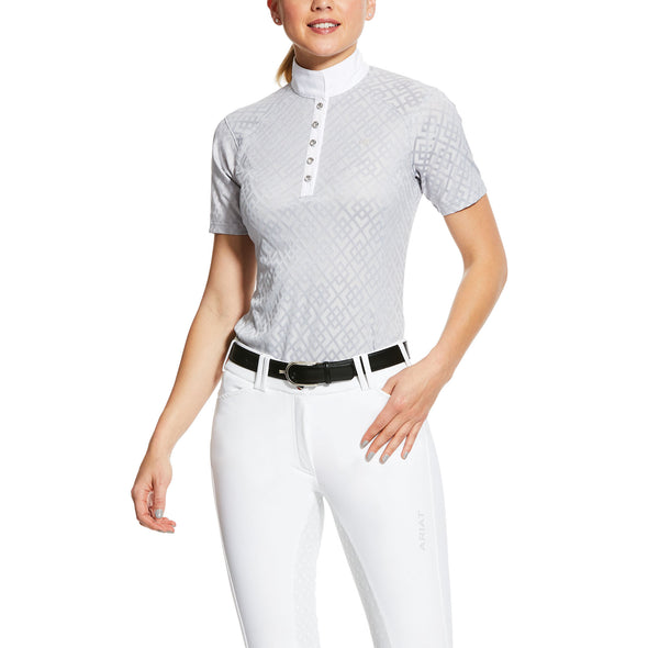 Women's Showstopper Show Shirt in Pearl Grey,10030535 Ariat