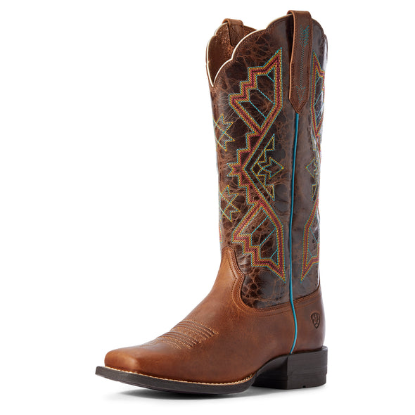 Women's Jackpot Western Boots in Russet Rebel / Distressed Coffee 10031430 Ariat