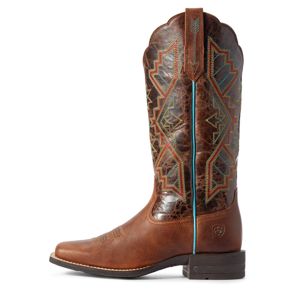 Women's Jackpot Western Boots in Russet Rebel / Distressed Coffee 10031430 Ariat side