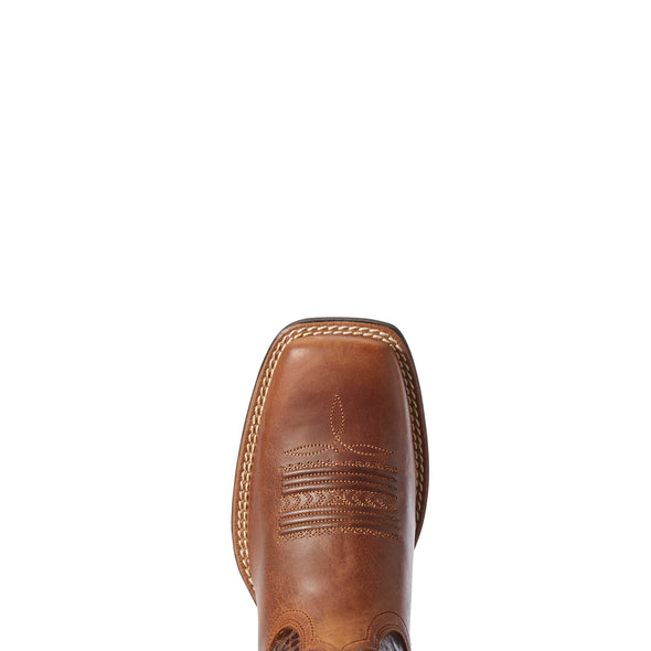 Women's Jackpot Western Boots in Russet Rebel / Distressed Coffee 10031430 Ariat toe