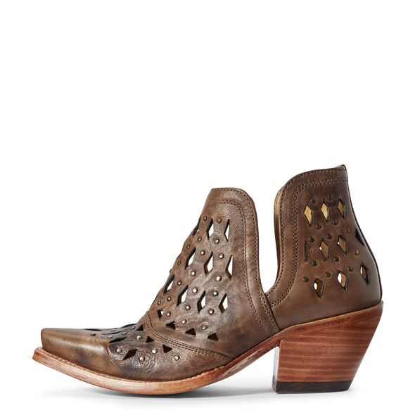 Ariat Women's Dixon Studded Ash Brown 10031503 side