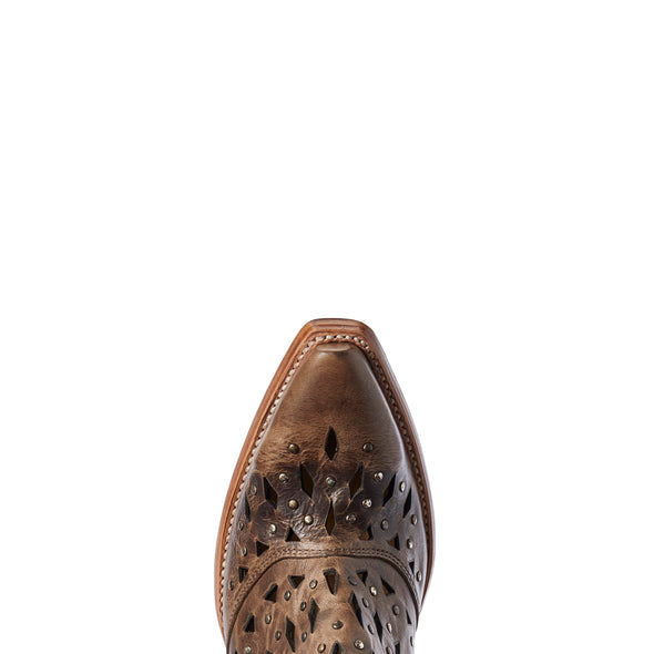 Ariat Women's Dixon Studded Ash Brown 10031503 toe